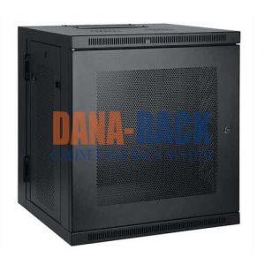 Tủ Rack 10U-D400 (Treo Tường) Màu Đen – Cửa Lưới