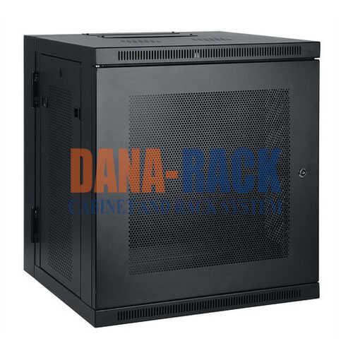 Tủ Rack 10U-D600 (Treo Tường) Màu Đen – Cửa Lưới