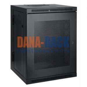 Tủ Rack 12U-D600 (Treo Tường) Màu Đen – Cửa Lưới