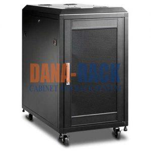 Tủ Rack 15U-D600 (Treo Tường) Màu Đen – Cửa Lưới