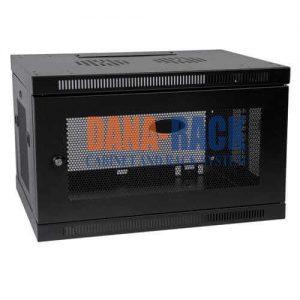 Tủ Rack Màu đen, cửa lưới 6U-D400 Wallmount – Dana rack 6U400