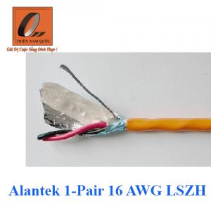 Cáp âm thanh/ điều khiển Alantek 1-Pair 16 AWG LSZH