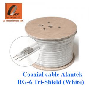 Coaxial cable Alantek RG-6 Tri-Shield (White)