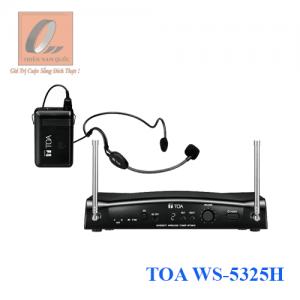 Bộ micro choàng qua đầu không dây UHF TOA WS-5325H